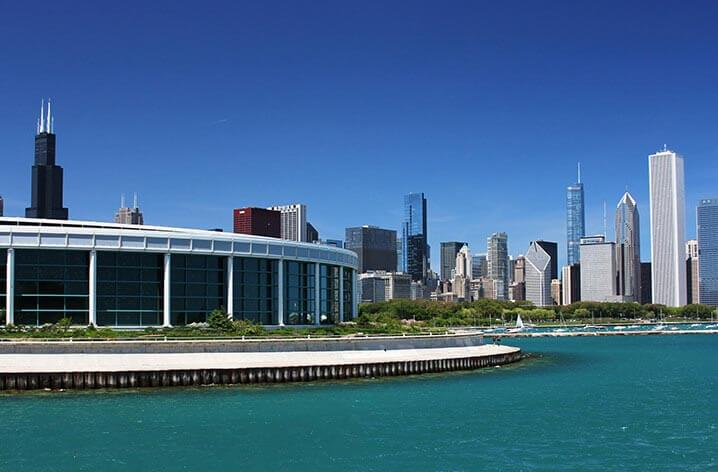 chicago citypass - shedd aquarium overlooking lake michigan